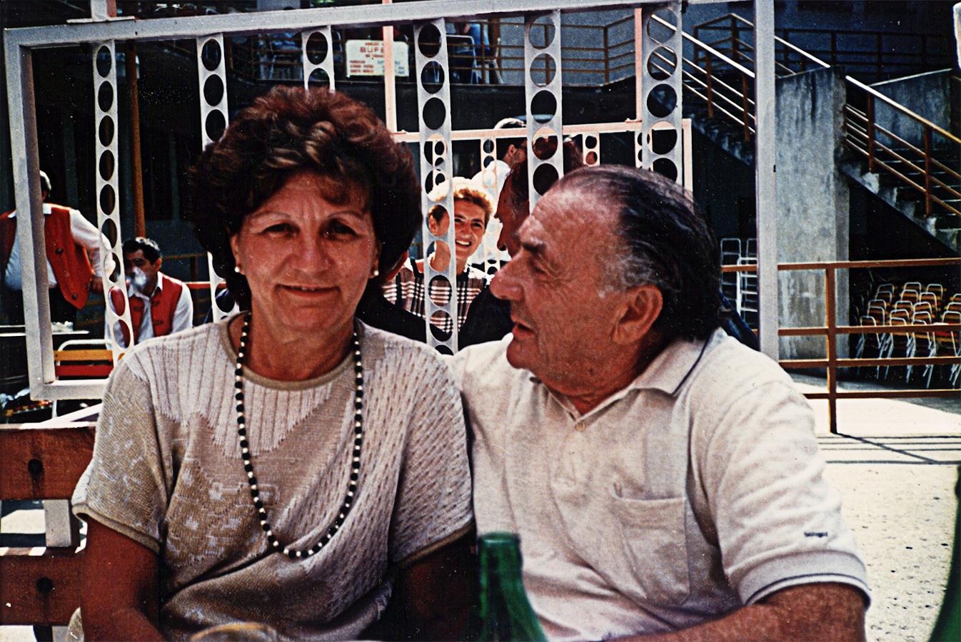 Liselotte Lang und Ehemann Eduard, 1987