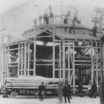 Rudersportkarussell, Aufbau des Überbaues Prater 34 (heute 93), 1903