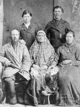 Mutter Natalia, Vater Wassili und Geschwister