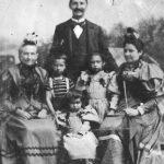 v.l.n.r.: Schwiegermutter Johanna Dorothea Emilie Wilfert, Karl, Maria, Carl, Rosa und Ehefrau Emilie