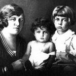 Ehefrau Helene, Tochter Liselotte und Sohn Alexander